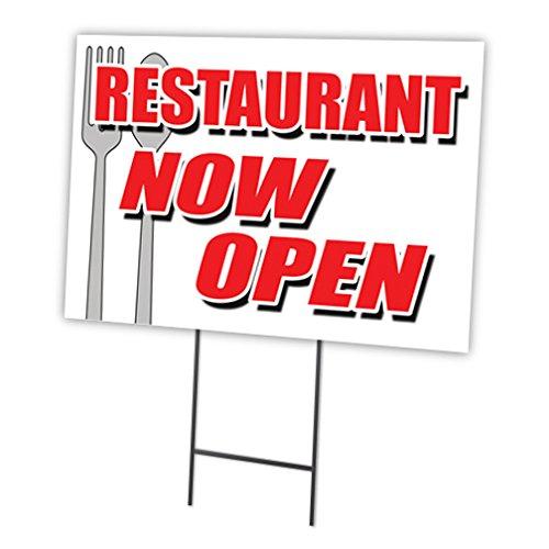 Restaurant jetzt 45,7x 61cm Yard Sign & dem Spiel Outdoor Kunststoff Coroplast Fenster