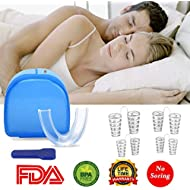 Anti Snoring Devices - BeYself 4 Sets of Nose Vents Snore Stopper with Anti Snoring Mouthpiece, Anti Snoring Solution, Ease Breathing and Snoring