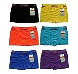 6-12 UOMO Jungen Kinder Boxershorts Microfaser Unterhosen (104-116, 6 Stück)