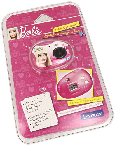 Lexibook DJ015BB - Barbie Digitalkamera, 300K Pixel (Video Professional Digital Kamera)