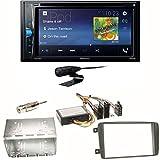 Pioneer AVH-A210BT USB Autoradio Touchscreen Bluetooth Moniceiver Autoradio CD DVD MP3 Freisprecheinrichtung WAV AUX AAC DivX Einbauset für Mercedes C-Klasse W203 CLK W208 W209