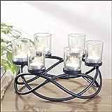 Metall Teelichthalter Kerzenkranz gedreht für 6 Teelichter Windlicht Kerzenständer Kerzenhalter Stimmungslicht