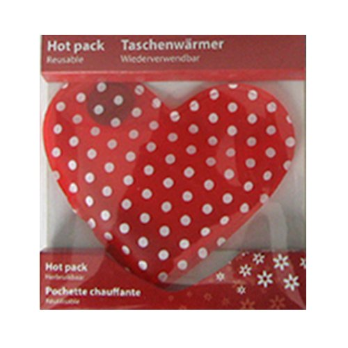 Taschenwärmer Herz - verschiedene Designs (Punkte)