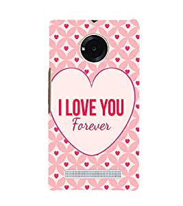 PrintVisa I Love You Pattern 3D Hard Polycarbonate Designer Back Case Cover for YU Yuphoria :: YU Yuphoria YU5010