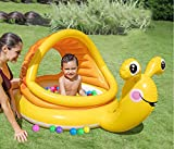 WOkismx Mini Baby Pool Portatile Lumaca Gonfiabile Barca Rotonda Parasole Piscina Vasca da Bagno per Bambini Galleggiante Paradiso Paradiso Che Nuota Nuoto