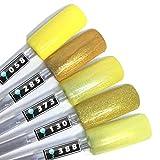 Color Gel 5er Set (je 5ml): Yellow Submarine - Gel Gelb, Gelb Leuchtgelb, Gel Gelbglitter