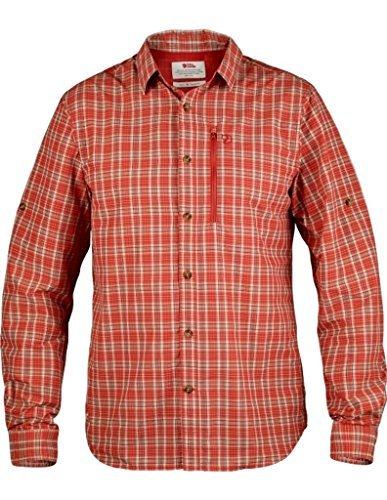 Fjällräven Abisko–funzione Hike a maniche lunghe Men–Camicia arancione fiamma
