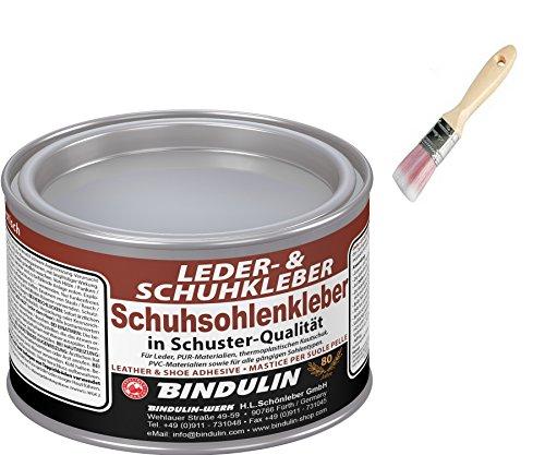 Schuhsohlen- und Lederkleber BINDULIN inkl. 1x Pinsel von E-Com24 zum Aufragen (200 g)
