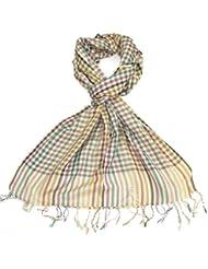 Lovarzi Unisex Mehrfarbiger Schal mit Schach-Muster - Lange Karierte Schal für Männer und Damen
