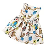 TIFENNY Clearance! Baby Girls Sleeveless Owl Print Dress Party Cocktail Dresses (5T)