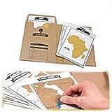 Tiptiper Travelogue Scratch, conseils de voyage de carte du monde