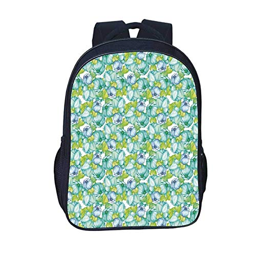 Kids Backpacks Dahlia Flower Decor Durable Backpack,National Local Mexican Flower Ancient Aztec Culture Perennial Roots Plant for School Travel,11.8