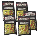 5 x Tronixpro Plaice Boat Sea Fishing Ready Made Rigs (Red / Yellow Beads)