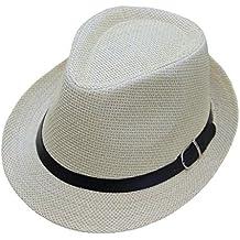 Sunenjoy Enfants Bébé Panama Chapeau de Paille Jazz Chapeau de Soleil Été Garçon  Fille Chapeau Fedora 254512bbe5e