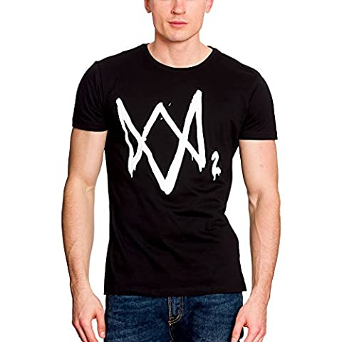 Watch Dogs 2 - T-shirt logo - Coton - Noir - Elbenwald - S