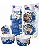Horror-Shop 50 Disney Kindergeburtstags Muffin Papier-Förmchen Frozen