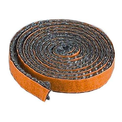 Glasfaserband Flach 10/2 mm selbstklebend für Ofenscheibe Länge 1 m Scheibendichtung aspestfrei