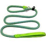 Mycicy Reflektierende Seilleine, 1,5 m Basic Dog Training Leine Hochleistungs-Outdoor-Haustier-Leine Geflochten für Mittlere und Große Hunde (12mm Grün)