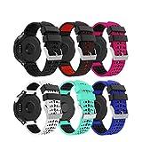 Yayuu Garmin Forerunner 235 Correa de Reloj, Banda de Reemplazo Silicona Suave Sports Pulsera para Forerunner 235/220/230/620/630/735XT Smart Watch (A, 6 Paquete)