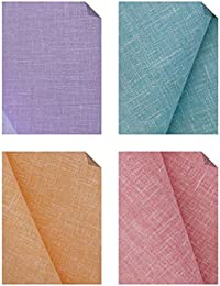 KUNDAN SULZ GWALIOR Men's Unstitched Poly Cotton Shirt Fabric Assorted_2.25m - (Pack of 4)