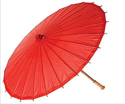 ANKKO Chinesischen Japanischen Stil Bambus Sonnenschirm Tanzen Regenschirme (Rot)