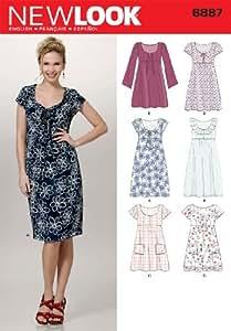 Patterns 6887 Patron de robes pour femme New Look