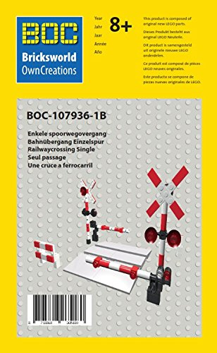 LEGO BOC-107936-1B Bahnübergang Einzelspur Zubehör 7936 7938 7939 60050 60051 60052 10233 3677 ... (Lego Bahnübergang)