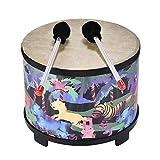 ammoon 25,4cm Holz Boden Drum Gathering Club Karneval Percussion Instrument mit 2Schlägel für Kinder Kinder