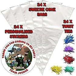 44th Street Ltd 24 personalisiert roblox Do it yourself Süßigkeiten Kegel Geburtstagsparty Taschen Design 3