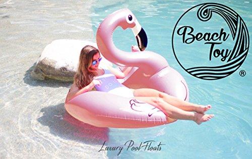 Beach Toy ® - Gigante Galleggiante gonfiabile Fenicottero Rosa, Light pink Flamingo Pool party