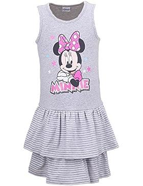 DISNEY Niñas Minnie Mouse Vestido, gris vigore claro