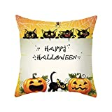 Luckycat Halloween Home Car Bett Sofa Dekorative Brief Kissenbezug Kissenbezug Mode 2018
