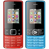 I KALL 1.8 Inch (4.57 Cm) Dual Sim Feature Phone Combo - K20 (Red) And K24 (Blue)