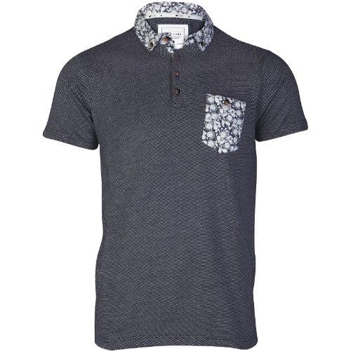 D-Code Herren Poloshirt Blau Blau Blau - Navy - White