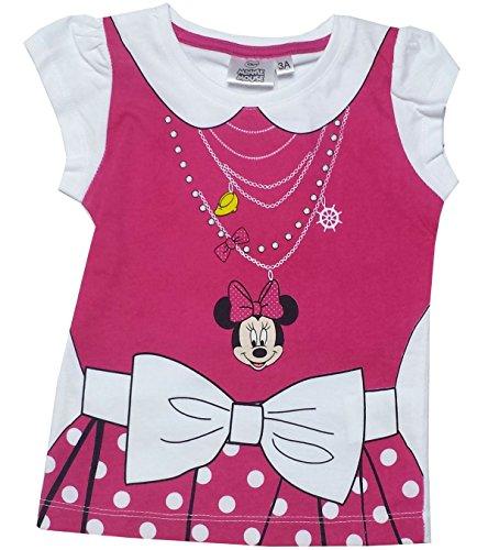 Mädchen Disney Minnie Mouse Kostüm Printed Lila T-Shirt Top Alter 8 Jahre (Minnie Maus Kostüme Shirt)