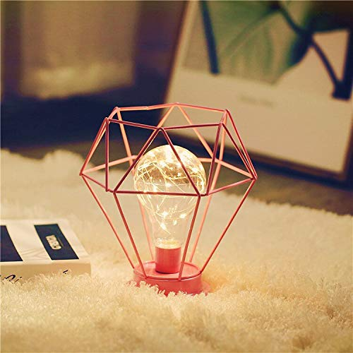 FGHHT Tischlampe Iron Art Diamond LED-Lichterkette Holiday Fairy Light (Gläser Holiday Light)