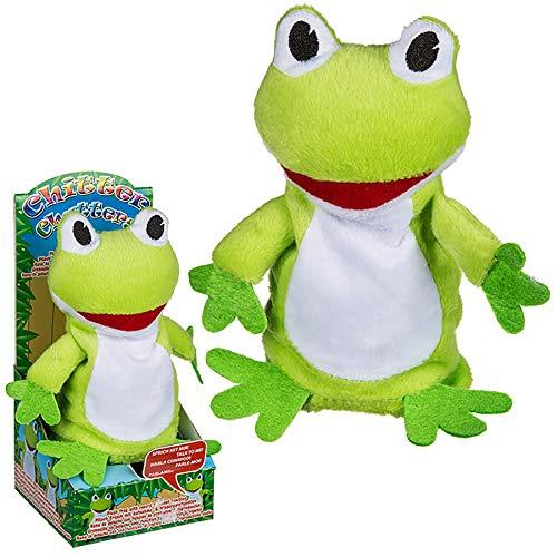 Preis am Stiel Frosch mit Aufnahme- & Wiedergabefunktion | Kuscheltier | Plüsch - Frosch | Geschenk für Kinder | Dekoration | Plüschtier | Scherzartikel | lustig | Stofftier