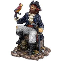 pennplax Pirata Capitán Acuario Decoración, Grandes