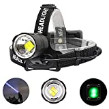 XuBa 50000 Lúmenes LED Linterna Frontal XLAMP XHP70 Mico USB Recargable Potente LED Head Lamp