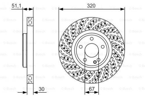 Bosch BD2131 Disque de frein