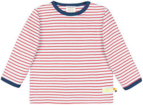 loud + proud Unisex Baby Shirt Ringel, aus Bio Baumwolle, GOTS zertiziziert, Blau (Cloud Cl), 80 (Herstellergröße: 74/80) -