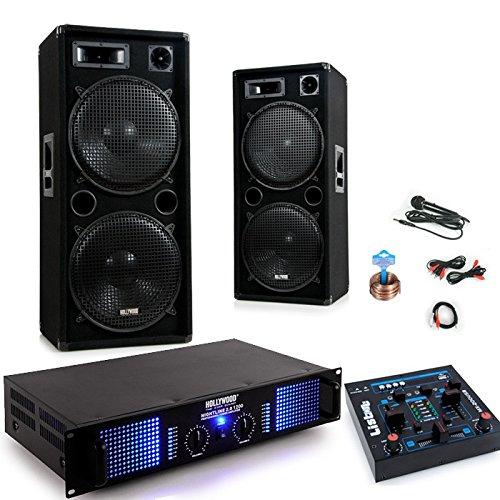 etc-shop 2400W PA Party Karaoke Anlage Boxen Verstärker Mischpult USB MP3 Mikrofon Kabel DJ-279