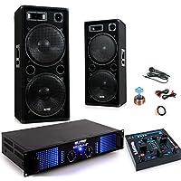 Mixer del sistema 2400W PA festa Karaoke amp altoparlanti cavo del microfono USB MP3 DJ-279 - 4 Canali Mini Mixer