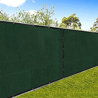 Privacy Fence Screen 6x50 Chain Link Fencing Cover Materials with Brass Grommets Landscape Construction Site 85% Blockage Outdoor Patio Yard Windscreen 6ft Fabric Garden Netting UV Resistance Green