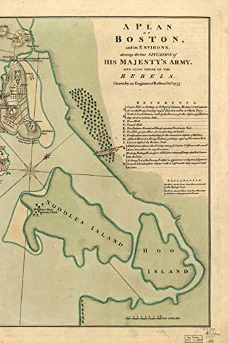 A plan of Boston, and its environs / shewing the true situation of His Majesty's army, and also those of the rebels: A Poetose Notebook / Journal / ... pages/50 sheets) (Poetose Notebooks: Boston) (Hog Island Press)