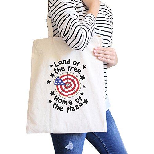 365 Printing inc , Borsa da spiaggia  Donna Ameowica Natural Canvas Bags Misura unica Land Of The Free Home Natural Canvas Bag