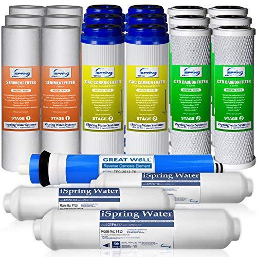 iSpring F22-753-Jahre Filter Ersatz-Netzteil Set für 5stufige Umkehrosmose Wasser Filtration Systems