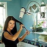 Tourwin Kreativer 360 Grad drehbarer Edelstahl Badezimmer Haartrocknerhalter mit starkem Sauger Fön-Halterung