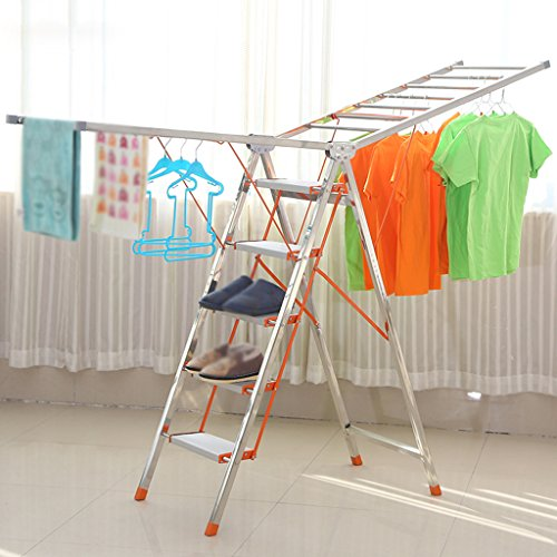 LXF Wäscheständer Multifunktions-Schaufel Trockner Racks Ladder Dual-Use-Innen-und Außenbereich Balkon Landing Clotheshorse Foldable Haushalt Einzigartig ( größe : B )
