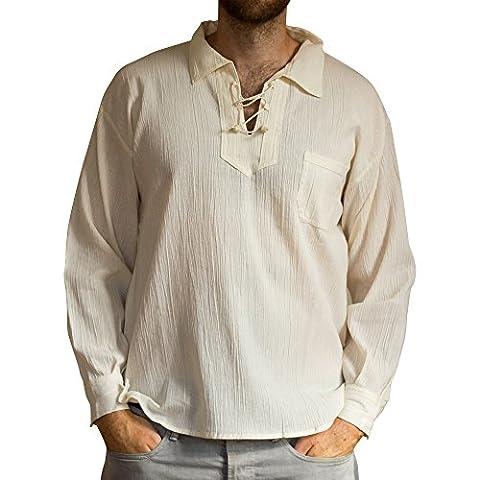 Sommer Bluse mit Tunnelzug aus Baumwolle, ethisch gehandelt, lange Ärmel